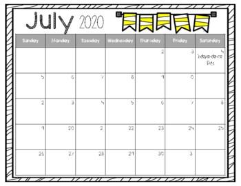 2018-2019 Teacher Calendar