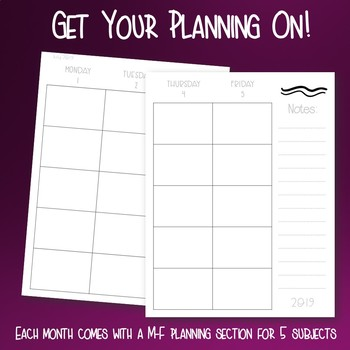 Teacher Calendar & Planner with BONUS Digital Resource! (18 MONTHS)