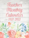 2019-2020 Teacher Floral Editable Calendar
