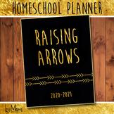 2018-2019 Teacher / Homeschool / Student Planner - Black and Gold Raising Arrows
