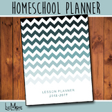 2018-2019 Teacher / Homeschool / Student Planner - Ombre Green Chevron