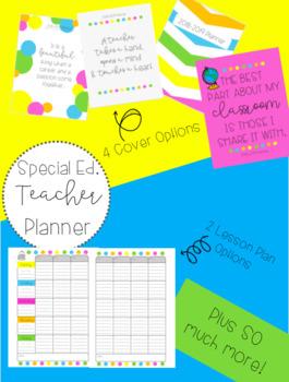 2018-2019 Teacher Planner {For Special Education Teachers}