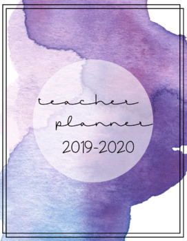 2018-19 Teacher Planner | Watercolor | FOREVER UPDATES | GROWING | STB Editable