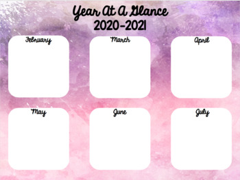 2018-2019 Year At A Glance Template