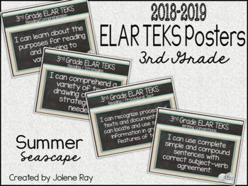 "2018 3rd Grade ELAR TEKS ""I Can"" Statement Posters: SUMMER SEASCAPE"