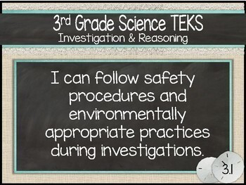 """3rd Grade Streamlined Science TEKS """"I Can"""" Statement Posters: SUMMER SEASCAPE"""