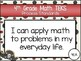 """2018-2019 4th Grade Math TEKS """"I Can"""" Statement Posters: PIRATE PROUD"""