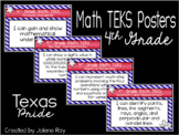 """4th Grade Math TEKS """"I Can"""" Statement Posters: TEXAS PRIDE"""