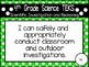 """4th Grade Streamlined Science TEKS """"I Can"""" Statement Posters: PRIMARY POLKA DOT"""