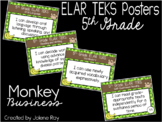 """2019-2020 5th Grade ELAR TEKS """"I Can"""" Statement Posters: MONKEY BUSINESS"""