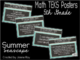 """2018-2019 5th Grade Math TEKS """"I Can"""" Statement Posters: S"""