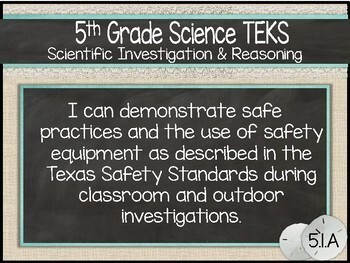 """2018 5th Grade Science TEKS """"I Can"""" Statement Posters: SUMMER SEASCAPE"""