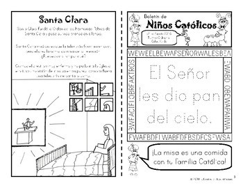 2018 Agosto Boletín para Niños Católicos