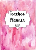 2019 Australian Teacher Planner- Pink Watercolour
