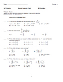 2018 BC Calculus Testbank, Examview testbank