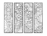 2018 BOOKMARKS, BUNDLE 3 PAGES, 12 BOOKMARK TEMPLATES, NEW