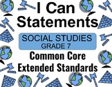 2018 C Core Extended Standards I CAN Statements Gr. 7 Social Studies Special Ed