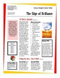 Novel Guide--The Edge of Brilliance
