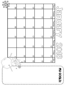 2018 Calendar Tracker_First 6 Months FREEBIE
