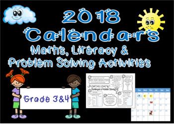 2018 Calendars: Maths, Literacy & Problem Solving Challenges