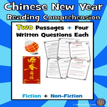 Chinese New Year Reading Comprehension: Chinese New Year Activities