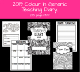 2019 Colour In Generic Teacher Diary/Planner