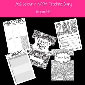 2018 Colour In NSW Teacher Diary/Planner