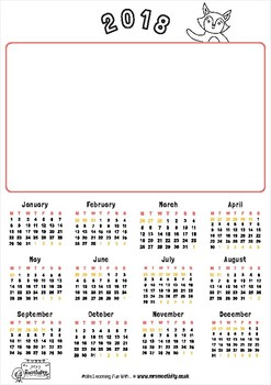 2018 Create Your Own Calendar