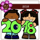 2018 Digital Clipart (color and black&white)