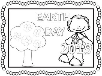 2018 earth day coloring pages and activities no prep by teaching kiddos 1. Black Bedroom Furniture Sets. Home Design Ideas