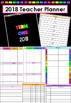 2018 Editable Teacher Planner - Black/Rainbow