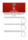 2018 FIFA World Cup Russia - Mathematics Worksheet