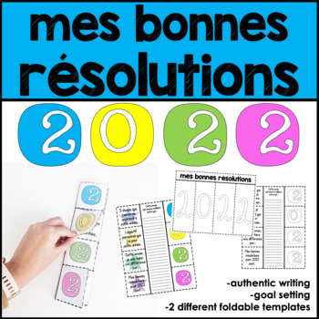 2018 French new years' resolutions interactive foldable activity