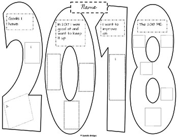 2018 Goals: Digital and Printable Version; Plus 9 layout options