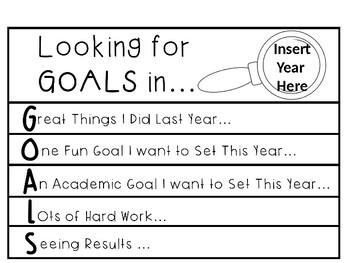 2018 Goals Flipbook for the Classroom