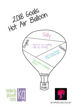 2018 Goals Hot Air Balloons