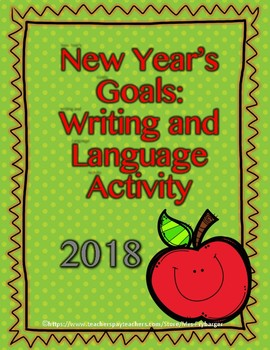 2018 Goals Writing and Language Lesson