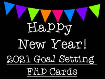 Happy New Year 2018 New Year's Goal Setting Flip Cards
