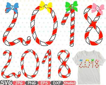 2018 happy new year clip art silhouette svg santas magic xmas ornaments 733s