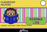 2018 Home Reading Log - Printable Calendar Template for WA Public Schools