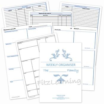 Homeschool Weekly Plan Organiser