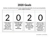 Interactive Notebook Goal Setting Activity