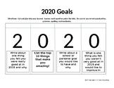 Interactive Notebook Goal Setting Activity