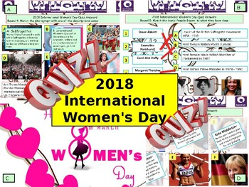 2018 - International Women's Day Quiz - 7 rounds and over 40 Questions. Health