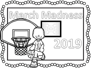 2019 March Madness Coloring Pages And Activities No Prep