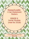 2018 Massachusetts Grade 6 Social Studies Learning Target I Can Statements