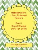 2018 Massachusetts Pre-K Social Studies Learning Target I Can Statements
