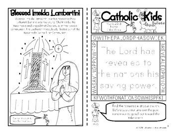 2018 May Catholic Kids Bulletins
