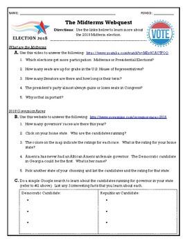 2018 Midterm Election Webquest
