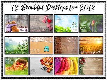2018 Monthly Calendar: Desktop Wallpaper